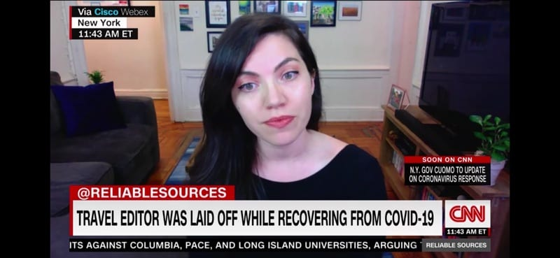 The author appeared on CNN's Reliable Sources to speak about unemployment | © Nikki Vargas