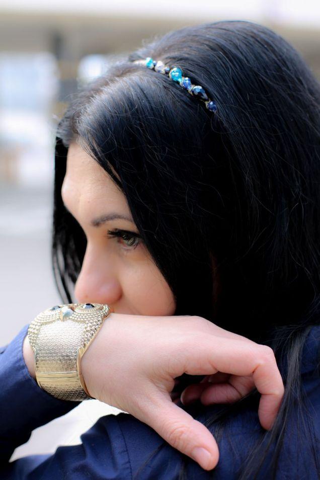 Melanie - Depot 96 headband, owl bracelet