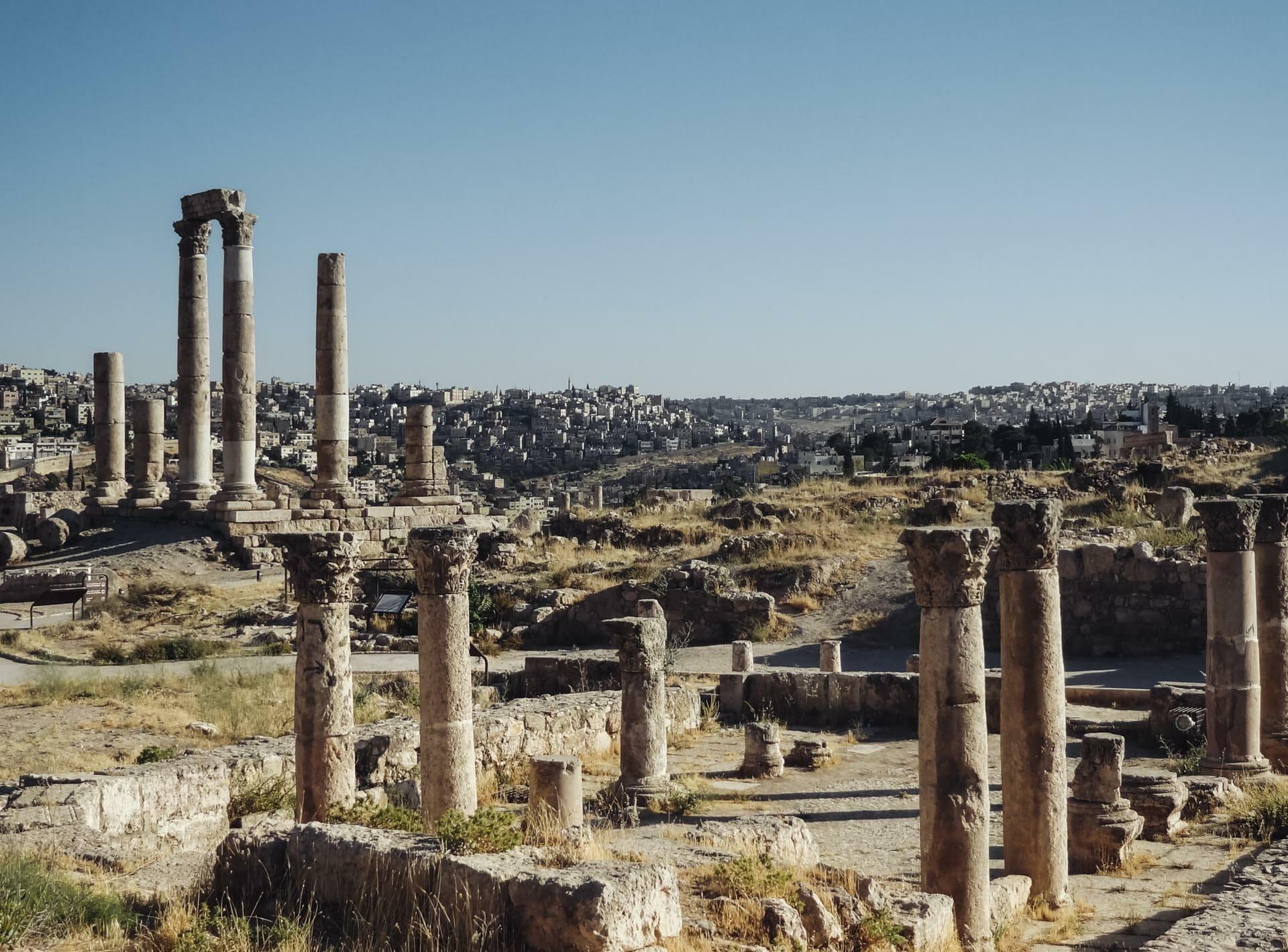 Citadelle d'Amman en Jordanie