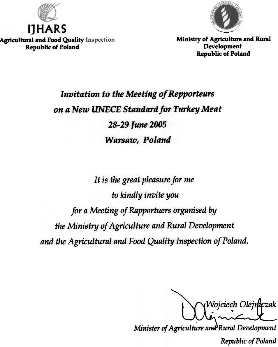 Working Party on Agricultural Quality Standards in 2005