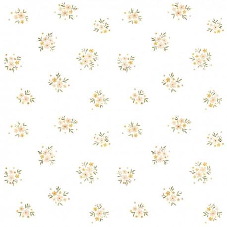 papier peint vintage fleurs liberty lilipinso