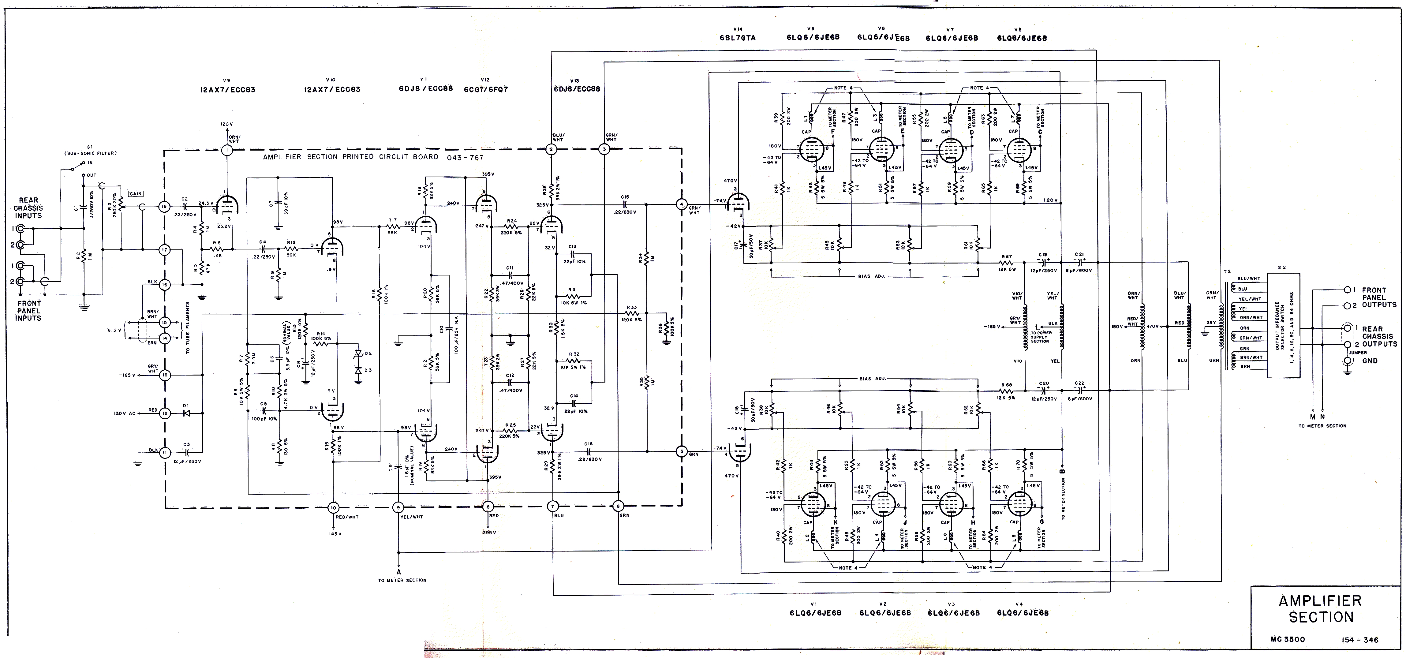 For Sa 200 Wiring Schematics That Time The Navy Used The Grateful Dead S Amps To Listen
