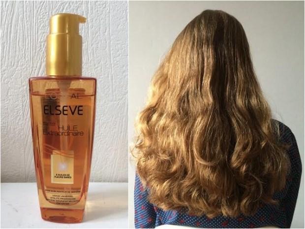 Cheveux avec l'huile extraordinaire