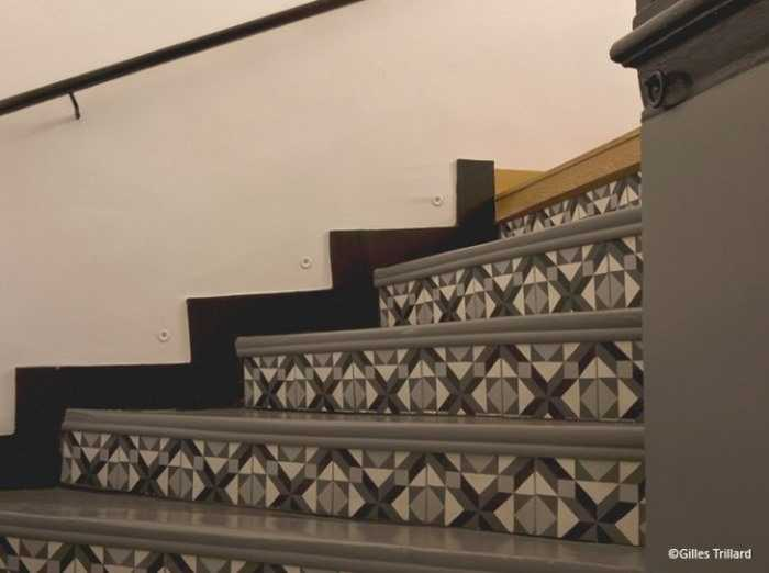 Carreaux de ciment 17 id es d co originales une - Escalier carreaux de ciment ...