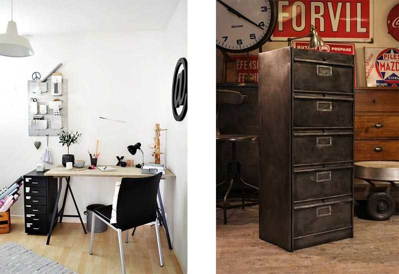 rangement du bureau 9 solutions d co pour ranger son bureau une hirondelle dans les tiroirs. Black Bedroom Furniture Sets. Home Design Ideas