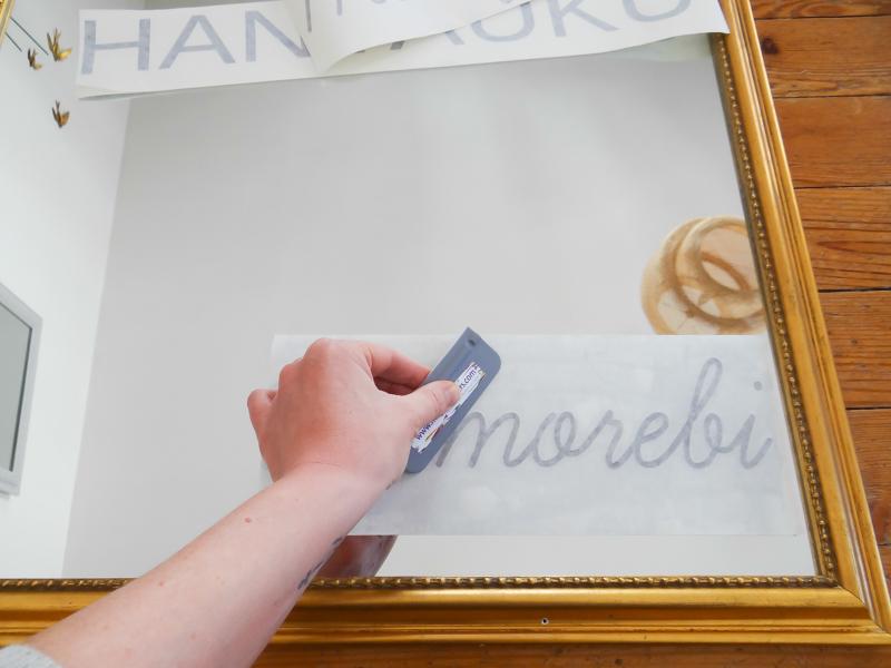 DIY ecrire sur miroir 7