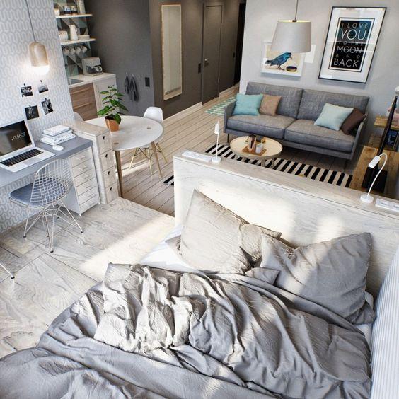 coin chambre dans salon idées aménager_32