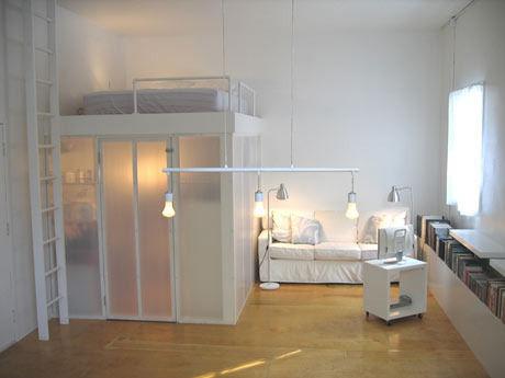coin chambre dans salon idées aménager_4