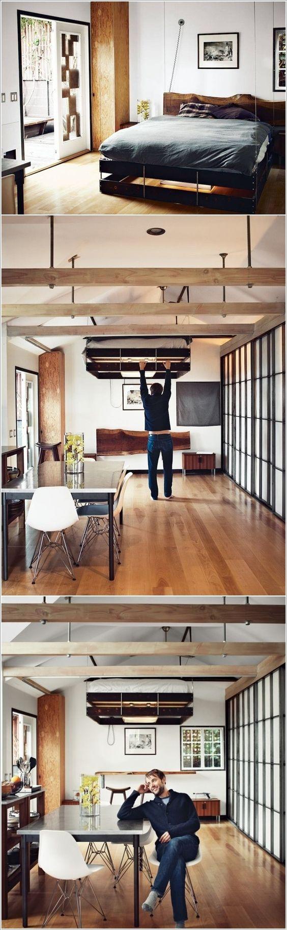 coin chambre dans le salon : 40 idées pour l'aménager | une