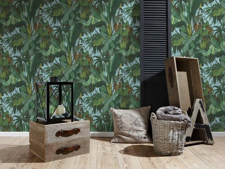 5 papier peint feuillage moins de 25 euros pour une ambiance urban jungle une hirondelle. Black Bedroom Furniture Sets. Home Design Ideas