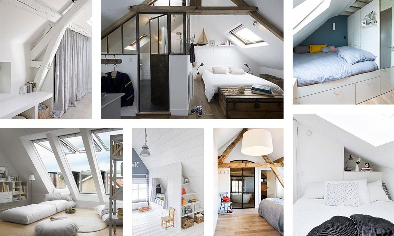 Chambre Adulte Avec Bureau aménager une chambre sous les combles : 35 idées pour vous