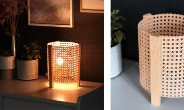 DIY lampe cannage
