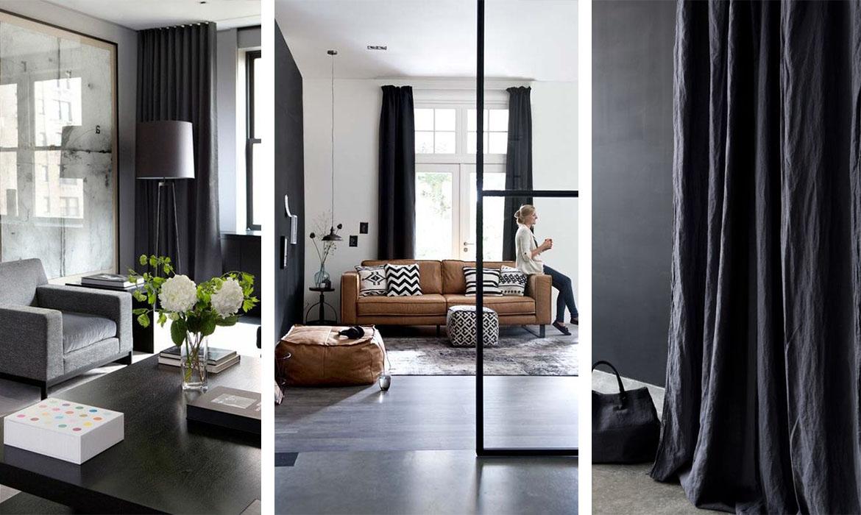 idee rideaux good rideau noir et blanc store salle de bain ide fenetre with idee rideaux. Black Bedroom Furniture Sets. Home Design Ideas