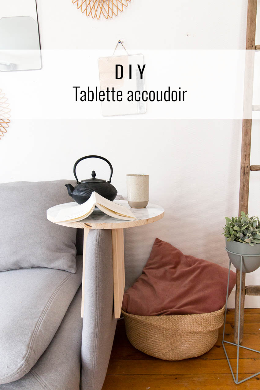 DIY tablette accoudoir
