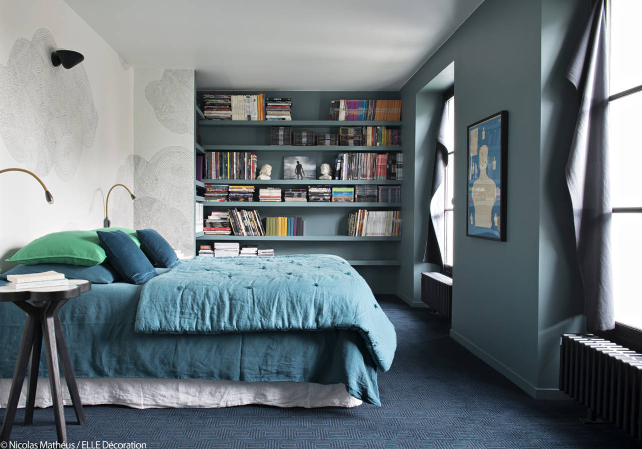 16 idées pour une chambre avec du bleu  Une hirondelle dans les