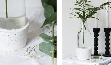 DIY vase ciment