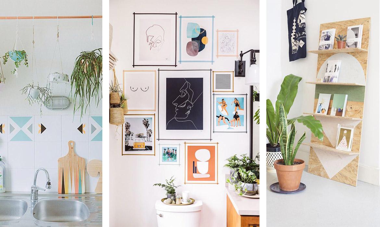 Accroche Mur Sans Trou 9 astuces pour décorer sans percer les murs | une hirondelle