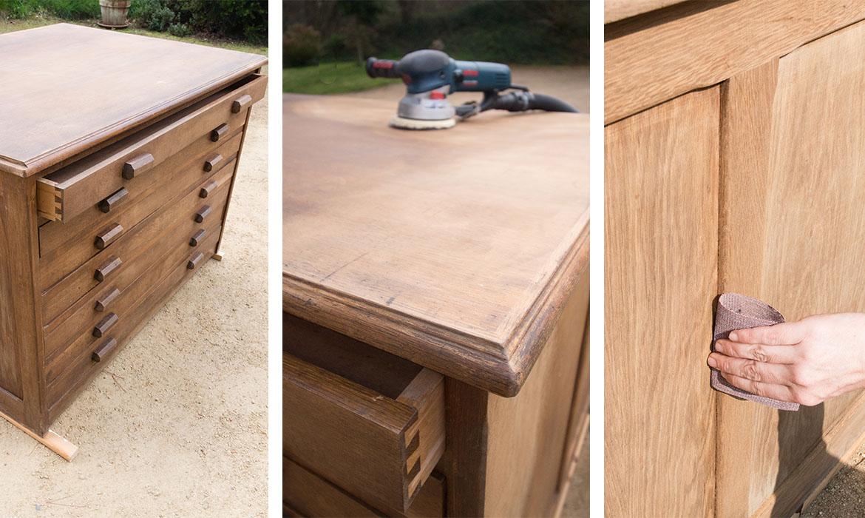 comment poncer un meuble en bois | une hirondelle dans les