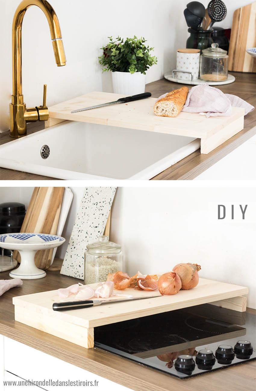 Table De Cuisine Gain De Place diy une planche à découper gain de place | une hirondelle