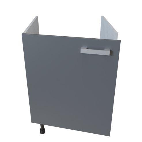 meuble bas sous evier 1 porte 60 cm macadam unekitchenette com