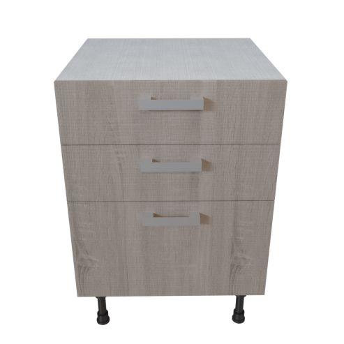 meuble bas 1 casserolier 2 tiroirs 60 cm bardolinio unekitchenette com
