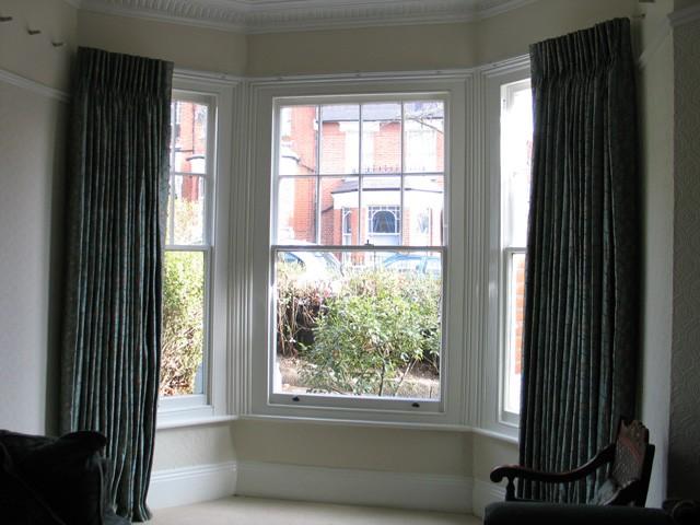Bay Window Double Curtain Rods A Creative Mom