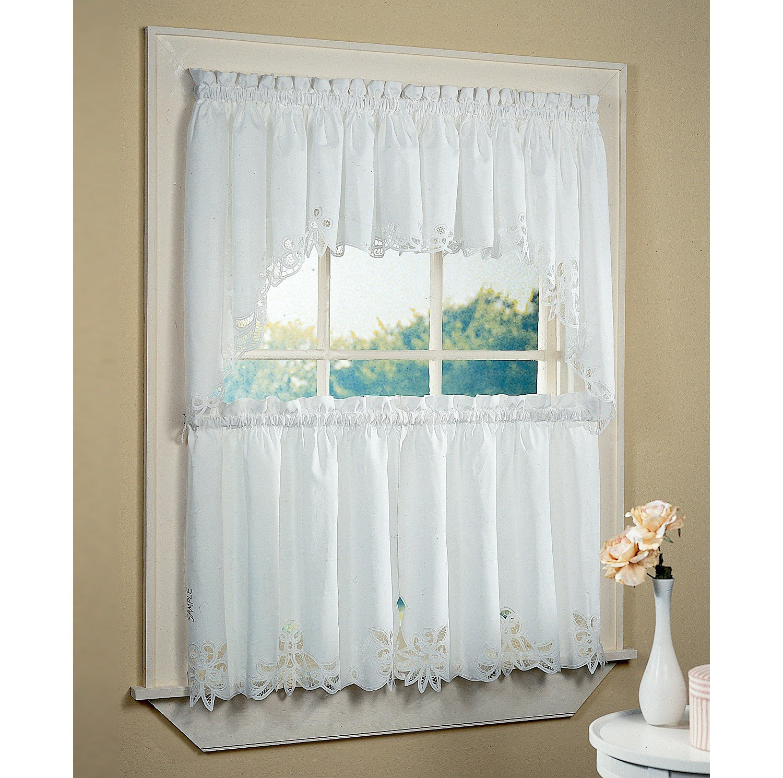 White Bathroom Window Curtains  A Creative Mom