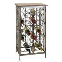 Wrought Iron Wine Rack Table | A Creative Mom