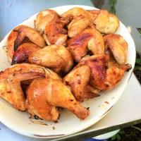 Poulet de Cornouaille ou simplement ordinaire glacé à l'orange (et fumé!)