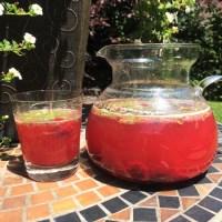Sangria blanche, mais qui est rouge, aux antioxydants :-)