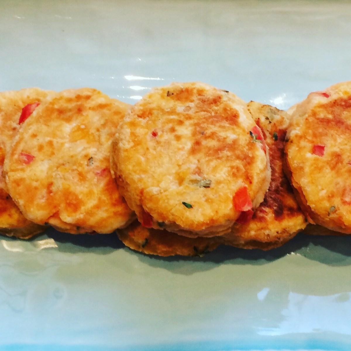 Welsh cakes salés tomate, parmesan et poivron