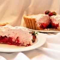 Tarte gourmande aux fraises et à la crème