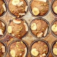 Muffins aux bananes et aux dattes sans sucre ajouté