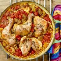Cassoulet de poulet, mais à l'italienne