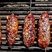 Brochettes de porc asiatiques
