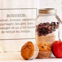 Muffins réduits en sucre en pot pour donner un peu d'amour