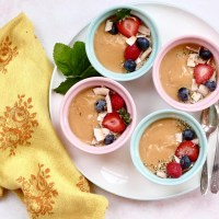 Crèmes au lait de coco et au caramel