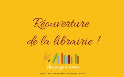 Réouverture de la librairie : précisions et mesures