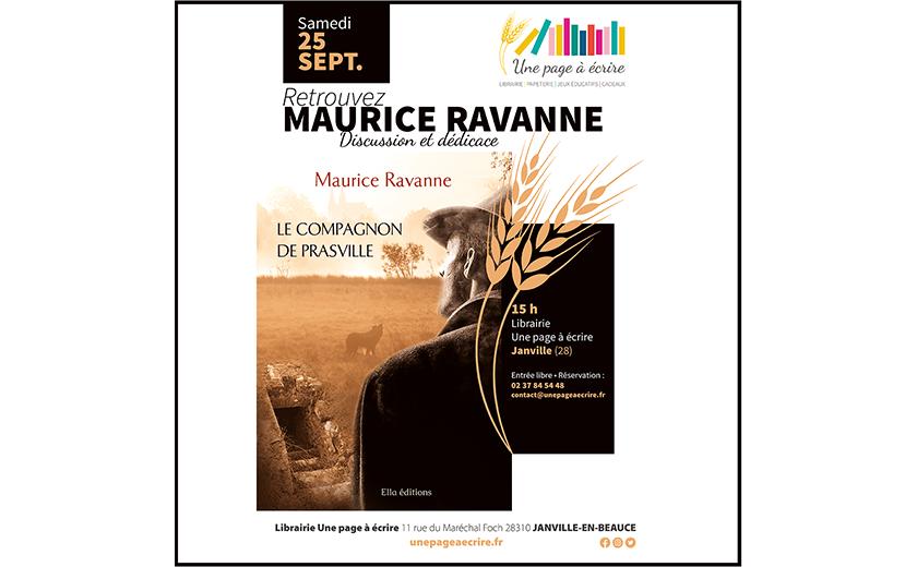 Rencontre avec Maurice Ravanne, samedi 25 septembre 2021 à 15h