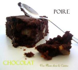 gâteau chocolat poire