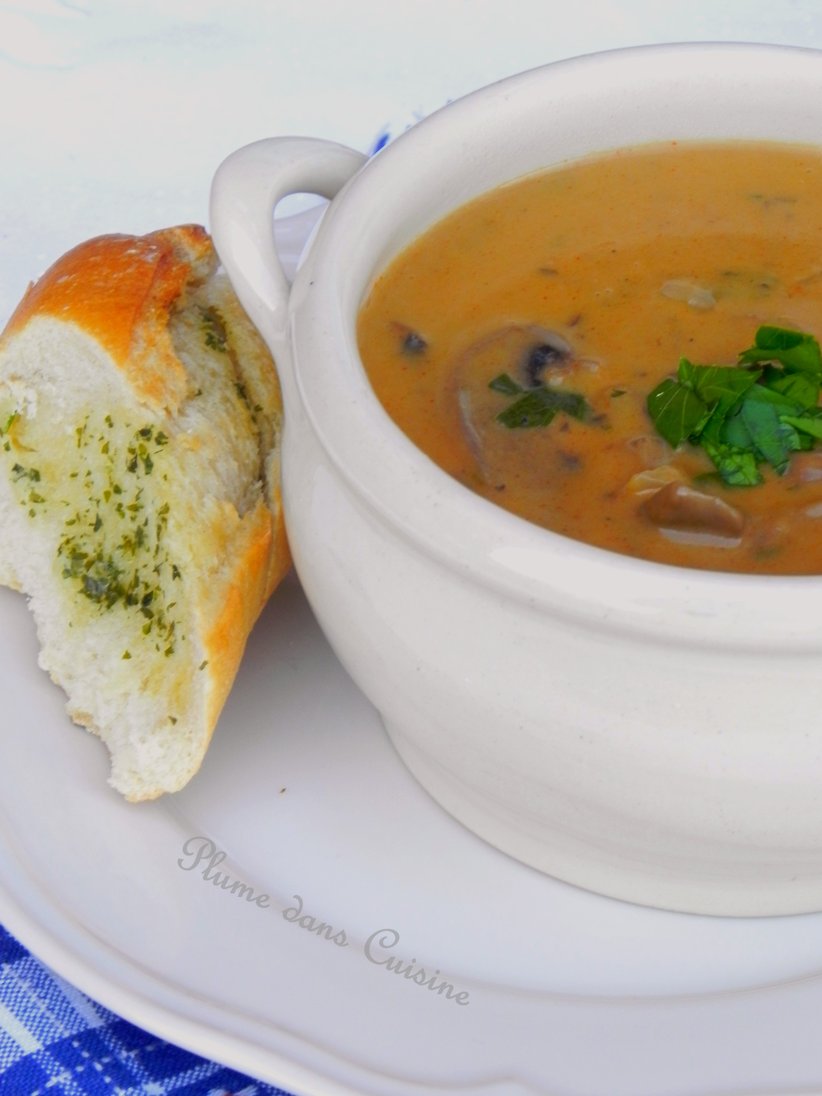Soupe hongroise aux champignons une plume dans la cuisine for Cuisine hongroise