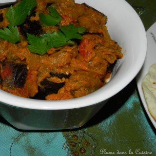 Aubergines au curry (Baingan Bharta)