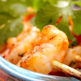 Crevettes-grillées