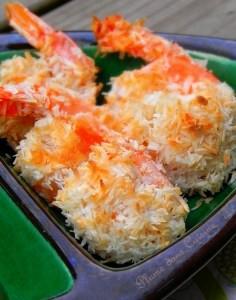 crevettes noix de coco au four