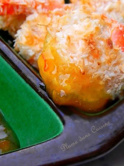 crevettes noix de coco au four2