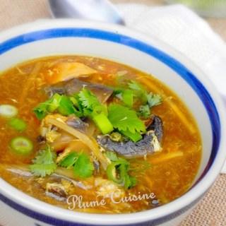 Soupe chinoise au poulet (soupe Sechuan)