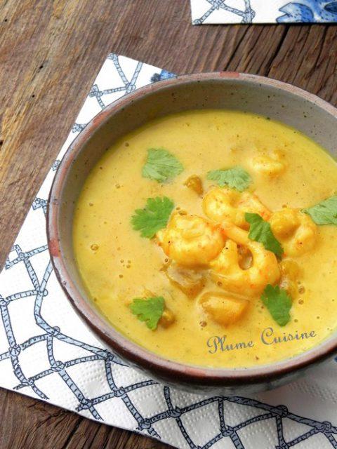 crevettes-curry-lait -de-coco-express
