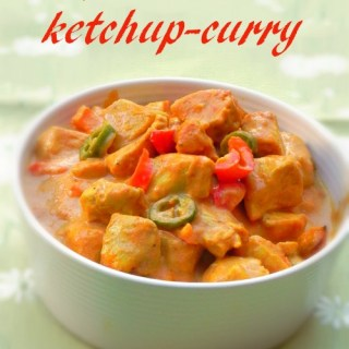 Poulet au four ketchup et curry
