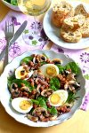 Salade d'épinards et lardons