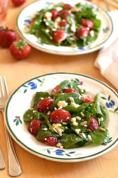 Salade-épinards-fraises-et-feta